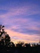 7月13日の少し紫がかった夕焼け